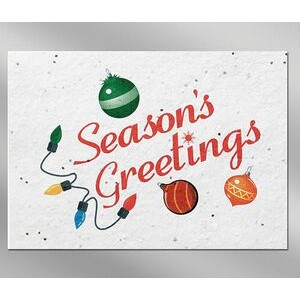 Seasons Floral Seed Paper Holiday Card w/o Inside Message