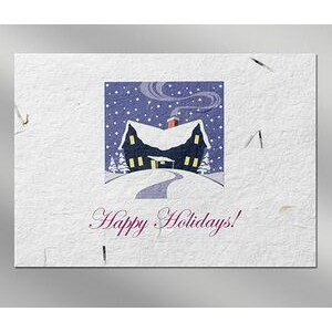 House Floral Seed Paper Holiday Card w/o Inside Message