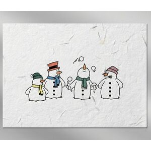 Four Show Men Floral Seed Paper Holiday Card w/o Inside Message